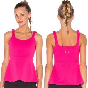 Beyond Yoga X Kate Spade Pink Peplum Cami Sz Large